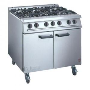 LPG 6 Burner Double Oven