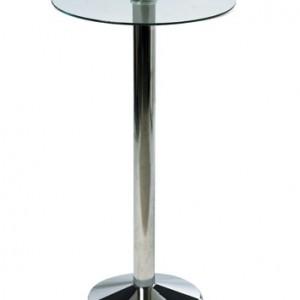 Milan Chrome Glass Table